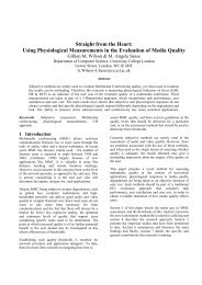 Using Physiological Measurements in the Evaluation of ... - CiteSeerX
