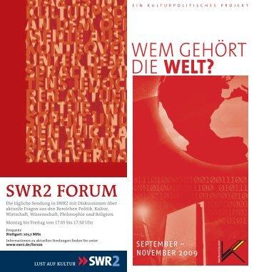 Wem gehört die WELT? - Kulturforum Schorndorf