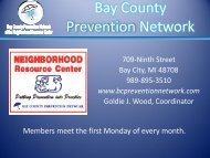 Bay County Prevention Network - Michigan Coalition to Reduce ...