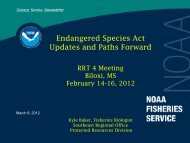 Endangered Species Act Updates and Paths Forward