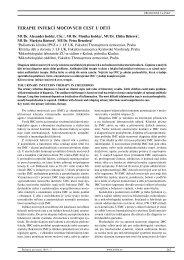 TERAPIE INFEKCÍ MOČOVÝCH CEST U DĚTÍ - Pediatrie pro praxi