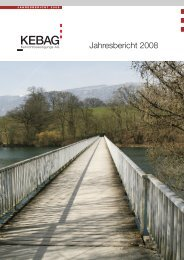 Jahresbericht 2008 - Kebag