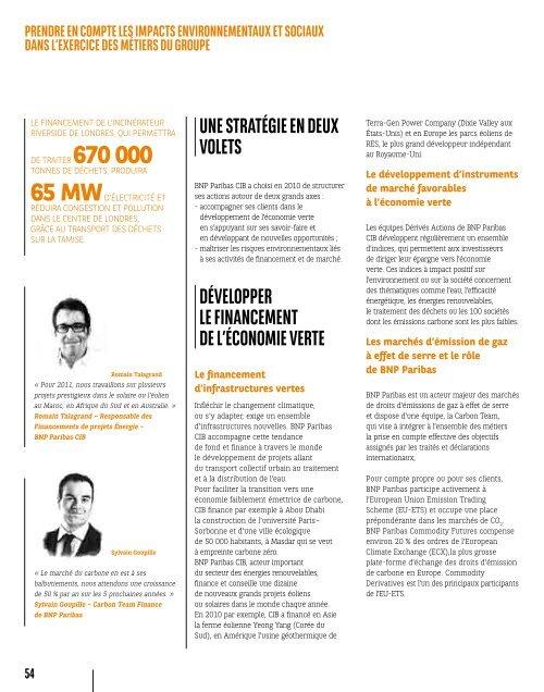 Rapport de responsabilité sociale et environnementale 2010