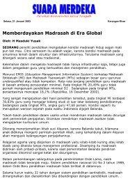 Memberdayakan Madrasah di Era Global - Kliping Berita