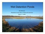 Wet Detention Ponds - Waukesha County