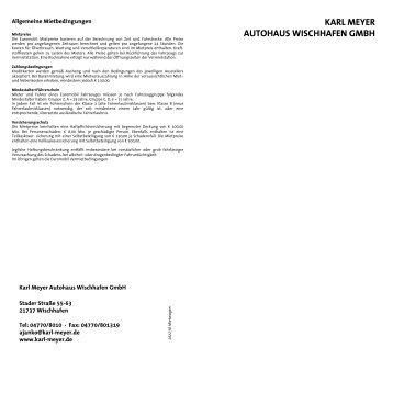 Unsere Mietwagen-Tarife - Karl Meyer Autohaus
