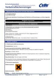Verkehrsflächenreiniger - CEBE Reinigungschemie GmbH