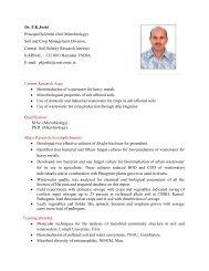 Dr. P.K.Joshi Principal Scientist (Soil Microbiology ... - CSSRI Karnal