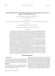 The Hydrological Cycle in the Mediterranean Region and ...