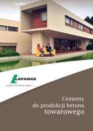 Ulotka cementy do produkcji betonu towarowego - Lafarge