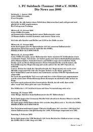 1. FC Sulzbach (Taunus) 1948 e.V. SOMA Die News aus 2005