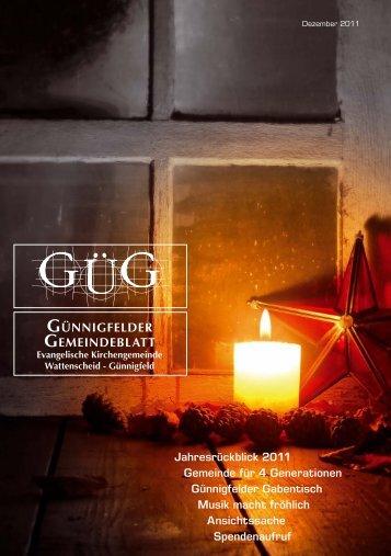günnigfelder gemeindeblatt - Evangelische Kirchengemeinde ...