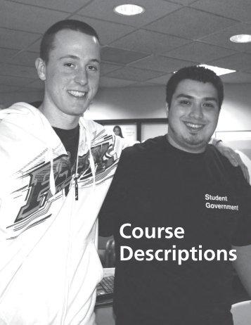 Course Descriptions - Norwalk Community College - Connecticut ...