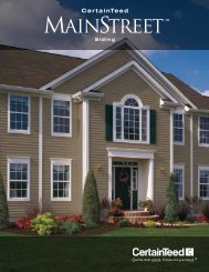 Certainteed Mainstreet Brochure - Zephyr Thomas Home Improvement