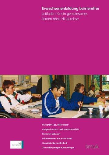 Erwachsenenbildung barrierefrei - biv integrativ