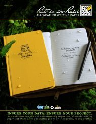 Product Catalog without prices (PDF - 24mb) - Rite in the Rain