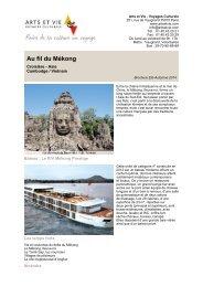 Au fil du Mékong - Arts et Vie