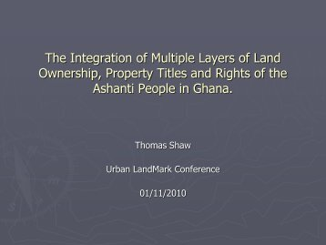 The Integration of Multiple Layers of Land ... - Urban LandMark