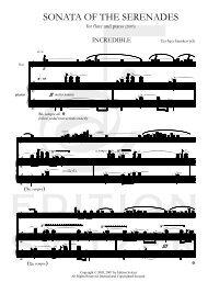 Finale 2005 - [Sonata of the Serenades (PIANO).MUS] - Edition Svitzer