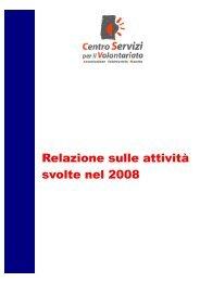 Report sull'attività svolta nel 2008 - CSV Marche