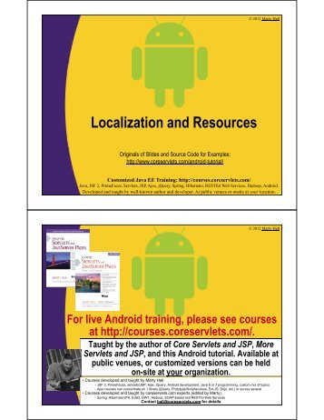 Localization and Resources - Custom Training Courses ...