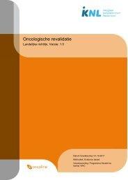 Richtlijn: Oncologische revalidatie (1.0) - Kwaliteitskoepel