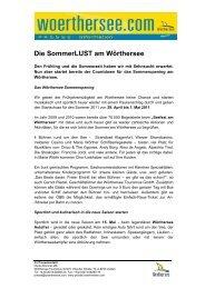 pm-Das Seefest am Wörthersee und Ausblick in den Sommer ...