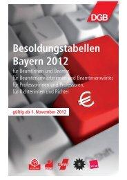Besoldungstabellen Bayern 2012 - Das RentenPlus