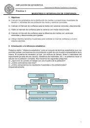 Práctica 3 MUESTREO E INTERVALOS DE CONFIANZA