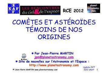 Jean-Pierre MARTIN www.planetastronomy.com - Association ...