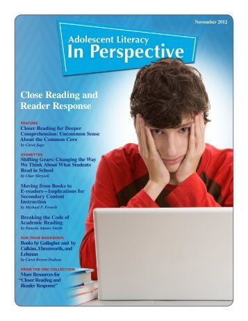Close Reading and Reader Response - Ohio Resource Center