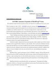CENTRIA Announces Expansion of MetalWrap™ Series