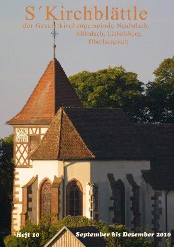 September bis Dezember 2010 - Evangelische Kirchengemeinde ...