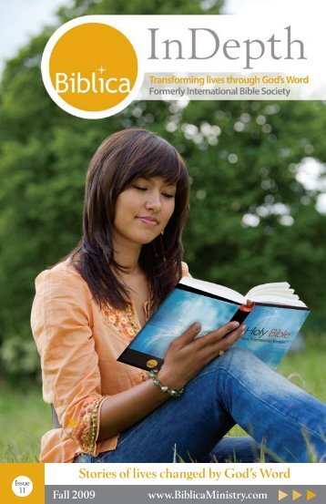 Issue 1 - 2009 - Stories of lives changed by God's Word - Biblica
