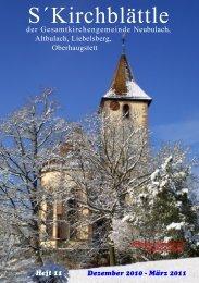 Dezember 2010 - Evangelische Kirchengemeinde Neubulach