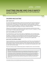 CHATTING ONLINE AND CHILD SAFETY - Kidsmart