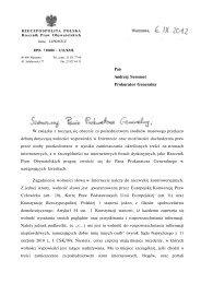 Pan Andrzej Seremet Prokurator Generalny W związku z toczącą się ...