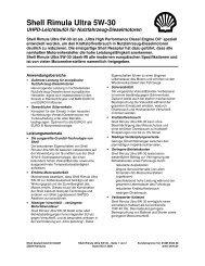 Shell Rimula Ultra 5W-30 - Schmierstoff-Datenbank