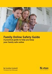 Symantec Family Online Safety Guide - Kidscape