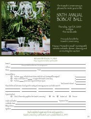 SIXTH ANNUAL BOBCAT BALL - Kiawah Conservancy