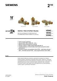 Siemens kat.l. ventily