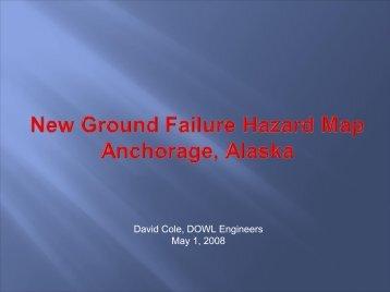 New Ground Failure Hazard Map Anchorage, Alaska