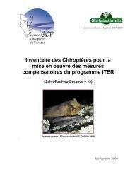 Inventaire des Chiroptères pour la mise en oeuvre des ... - iter france