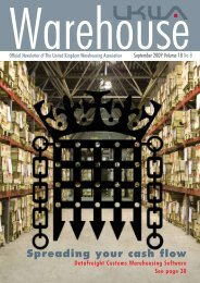 September 2009 Volume 18 No 8 - United Kingdom Warehousing ...