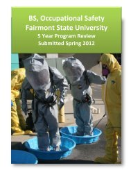 BS, Occupational Safety Fairmont State University
