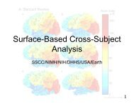 Surface-Based Cross-Subject Analysis