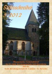 Stiftsschreiber 3/2012 - Ev.-Luth. Kirchengemeinde Stift Quernheim