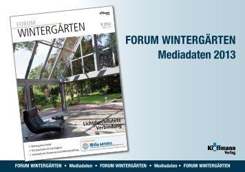 FORUM WinteRgäRten Mediadaten 2013 - FH Kleffmann Verlag ...