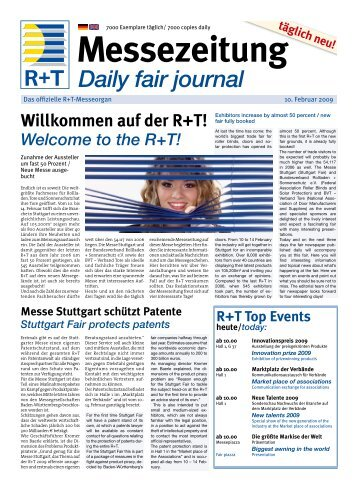 auf der R+T! - FH Kleffmann Verlag GmbH - Downloadcenter