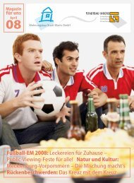 Fußball-EM 2008: Leckereien für Zuhause - Wohnungsbau Stadt ...